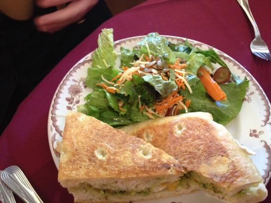 Weinhard Cafe & Bakery: chicken panini with salad and house dressing