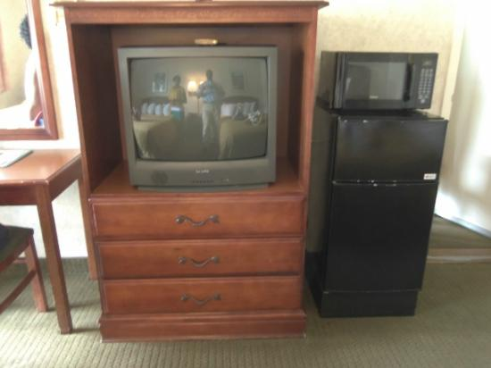 Quality Inn - Flagstaff / East Lucky Lane: Entertainment center/Fridge/Microwave