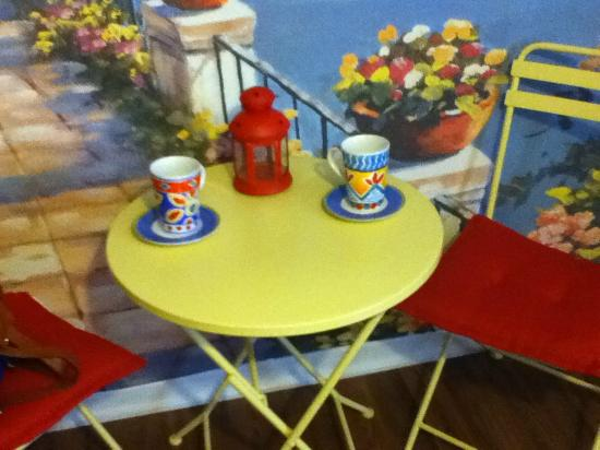 The Rex Motel: Nice little faux Mediterranean Cafe - nice, whimsical touch
