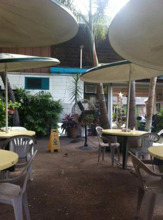 Taco's El Unico: outdoor seating, lots of room. close to beach