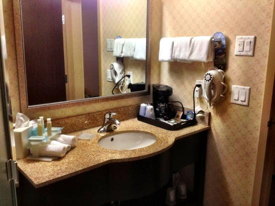 Holiday Inn Express Hotel & Suites Riverport: Bathroom is well stocked.