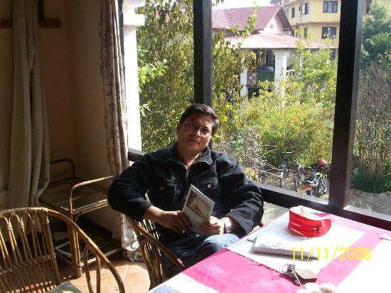 Tushita Rest House: Resaturant-very sunny