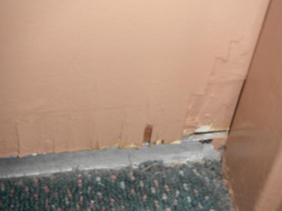 Addison's on Anzac: Water damaged door - yuk