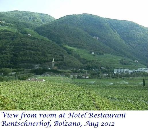 Hotel Rentschnerhof: View from room at hotel Rentschnerho, Bolzano