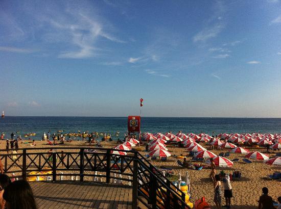 Haeundae Beach: パラダイスホテル釜山からビーチはすぐそこ。