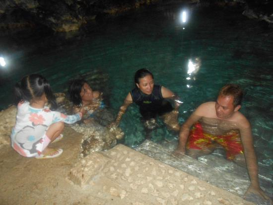 Timobo Caves: talk with the tourism officer