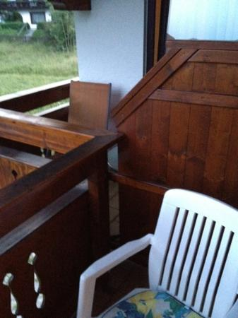 Pension Seeblick: balcony of my room and room next door. very cramped