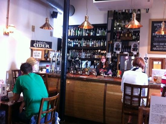 The Foundry Brew Pub: look at all the ales and real cider!!