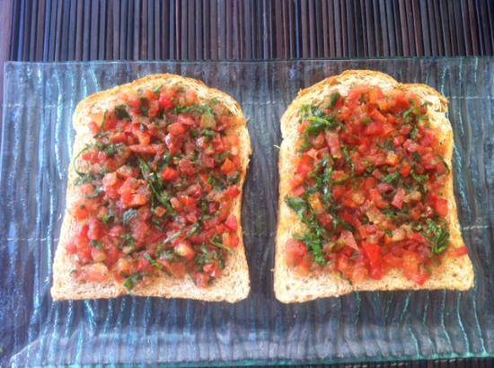 Villa Flow: Home made Bruschetta