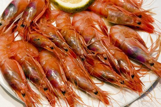 Restaurant Ca'n Miquelina : Gambas rojas de Sóller..denominación de origen