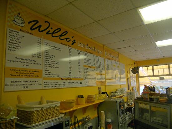 Willo's Sandwich Bar: Our extensive menu