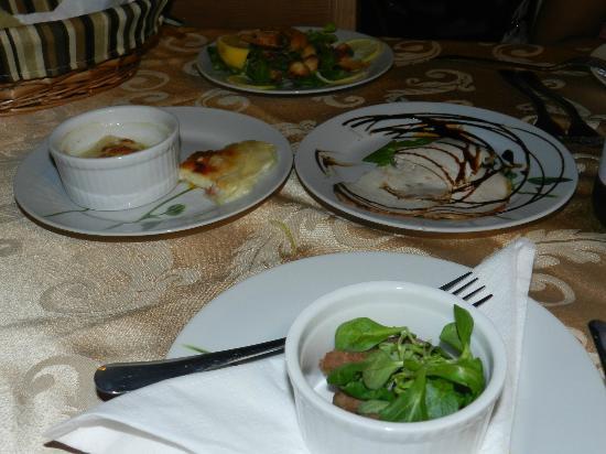 Osteria Largo Oratorio: carpaccio di carne, involtino di formaggio!!!