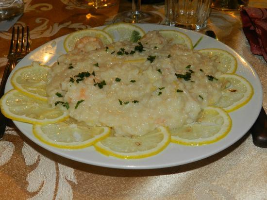 Osteria Largo Oratorio: risotto al limone con gamberetti
