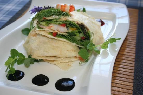 Grand Cafe Robertson: Prawn & Sweet Chilli wrap summer 2012