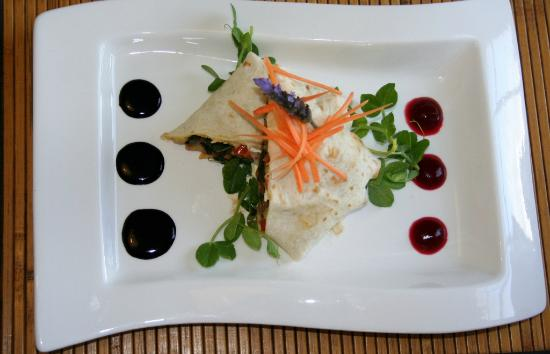 Grand Cafe Robertson: Veggie Wrap summer menu 2012