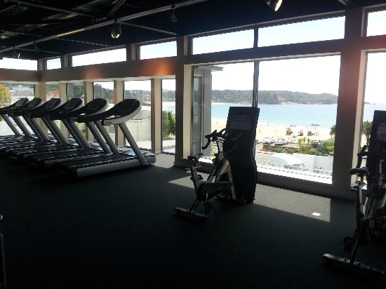 St. Brelades Bay Hotel: View from gym