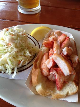 Captains Fresh Idea Restaurant: A Naked Lobster Roll with Fresh Cole Slaw 