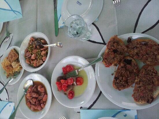 Trattoria del Pesce Povero: menu' di ferragosto 2012: antipasti