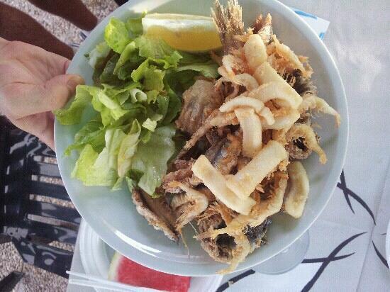 Trattoria del Pesce Povero: menu' di ferragosto 2012: fritturina!!!