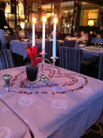 Hotel d'Angleterre : Украшение стола в ресторане