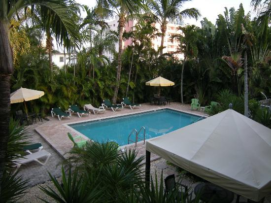 Cocobelle Resort: View of the pool area from the second floor.