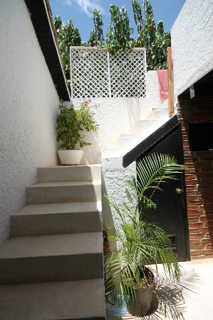 Posada Va Pensiero: Scaletta per salire in terrazza