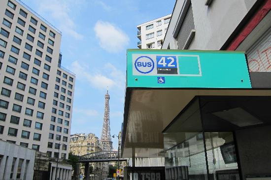 Eiffel Saint Charles: It's just a 2 mins walk to the 42 bus station.