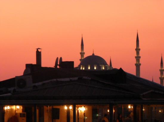 Kafkas Hotel Istanbul: blue mosque from the roof