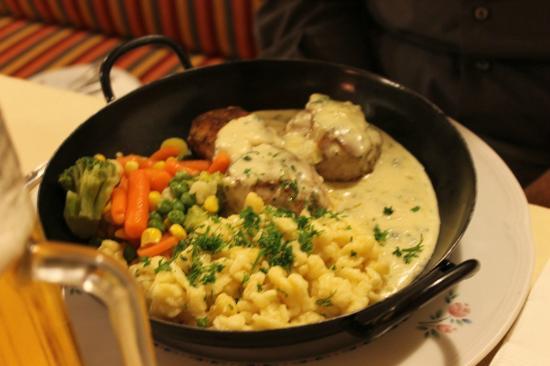 Gasthof Franz Josef: filetto di maiale con salsa al gorgonzola e spatzli