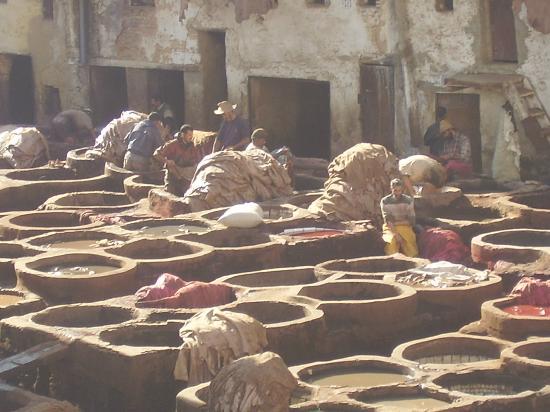 Moulay Abdellah Quarter: vasche di tintura