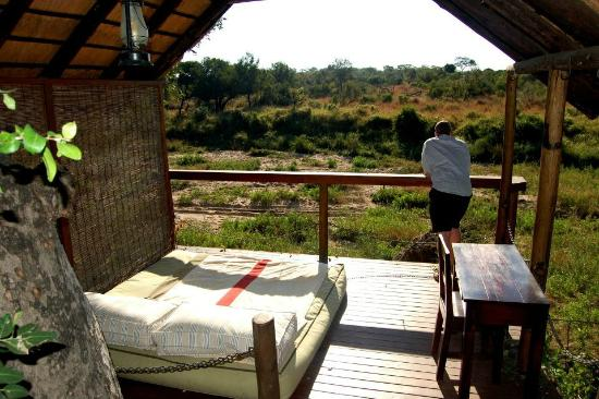 Jock Safari Lodge: Private deck