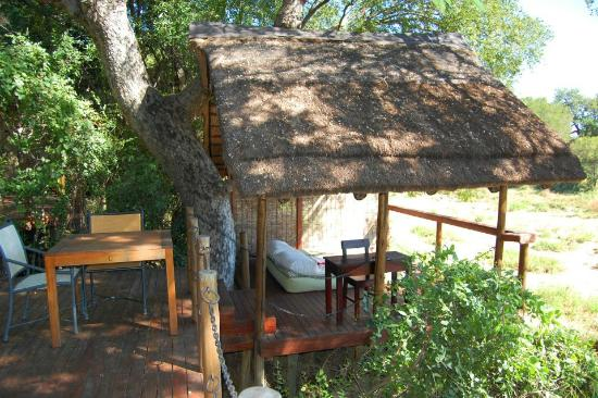 Jock Safari Lodge: Outside of our lodge on our private deck