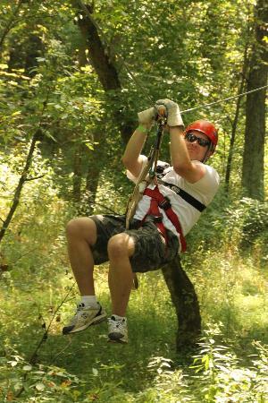 Hocking Hills Canopy Tours: Zippin' like a pro...LOL!