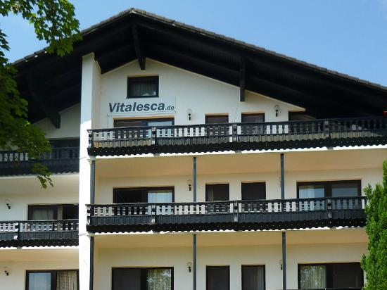 Hotel Vitalesca: Hotel dal parcheggio
