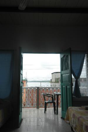 Hostel Yaxha: view from inside