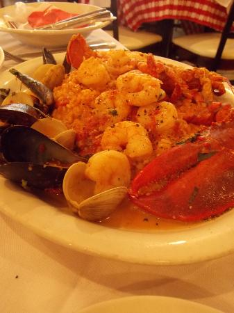Trattoria Rosalia's: Risotto with shrimp, mussels and lobster