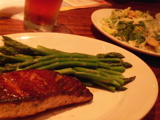 Wood Ranch BBQ & Grill: fresh atlantic salmon with your choice of side - Fresh Atlantic Salmon With Your Choice Of Side - Picture Of Wood