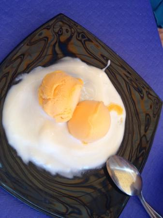 Restaurante Clandestino Zahara: Sorbete de mandarina