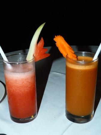Bali Nibbana Resort : frische Fruchtsäfte
