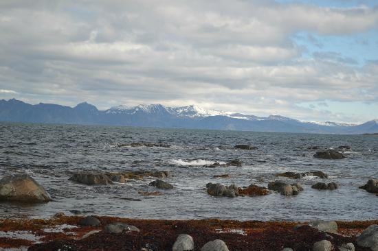 View of Vesteralen islands from Viva Lofoten beach