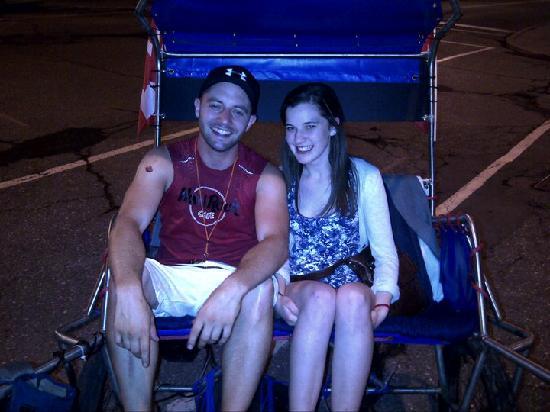 Ottawa Rickshaws: Happy passengers