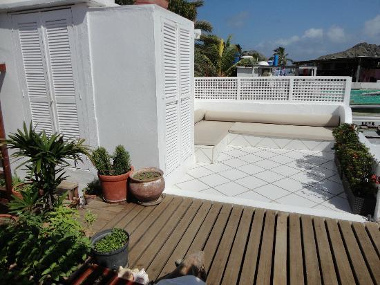 Posada Movida: terrazza con vista e divani