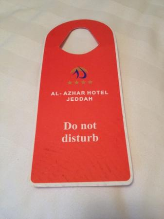 Al Azhar Hotel : do not disturb