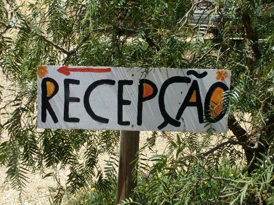Monte Velho Nature Resort: Welcome sign
