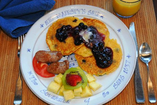 The Inn at Tabbs Creek Waterfront B&B: Lemon Blueberry Cornmeal Pancakes are a favorite breakfast