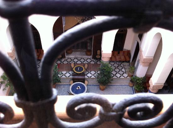 Riad Ahlam: View from room to courtyard.