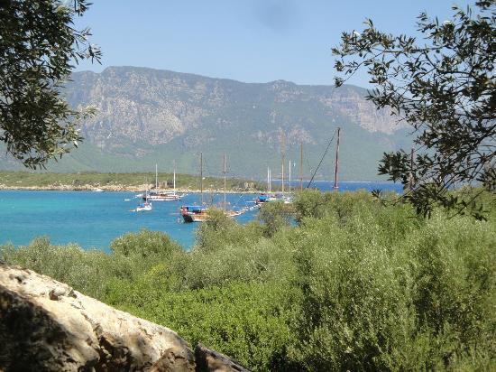 Kerme Ottoman Palace: View at Cleopatra Island - gulet cruise