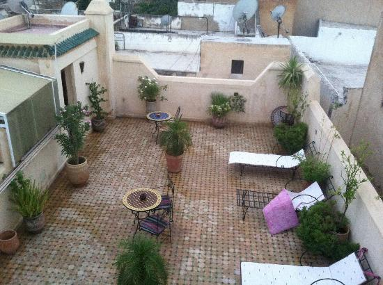 Riad Ahlam: Roof deck