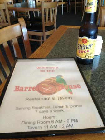 Barrel House Restaurant & Tavern: The only good thing here, Shiner Bock