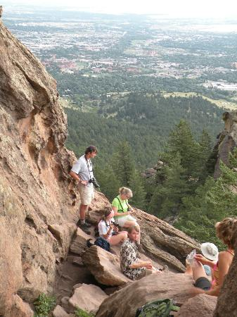 Chautauqua Park: View of Boulder from Royal Arch 